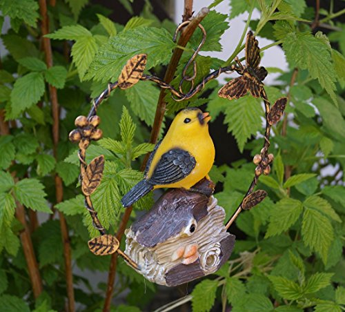Bewegungsmelder Vogel zum Hängen mit Herz Gartendeko mit Sensor (Vogel 3)