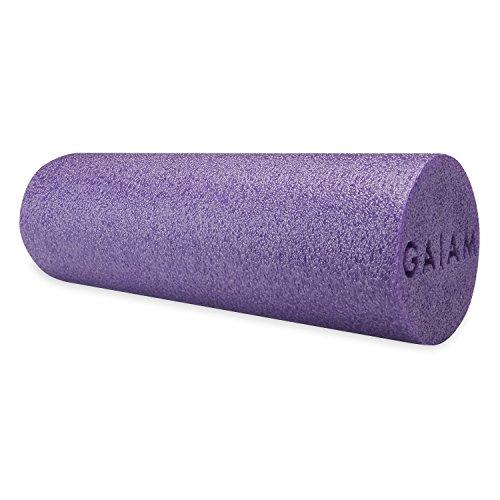Gaiam Restore Muscle Therapy Foam Roller, Purple, 18