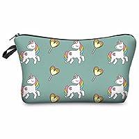 Kukubird Unicorn Emoji Flamingo Animals Make Up Bag Wash Bag Toiletry Cosmetics Wallet Pencil Pen Holder Organiser Pouch Case