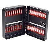 OfficeForce Schlüsselkasten mit Zahlenschloss/Schlüsselschrank, Modell Tresor für 36 Schlüssel, Wandmontage, schwarz (20092)