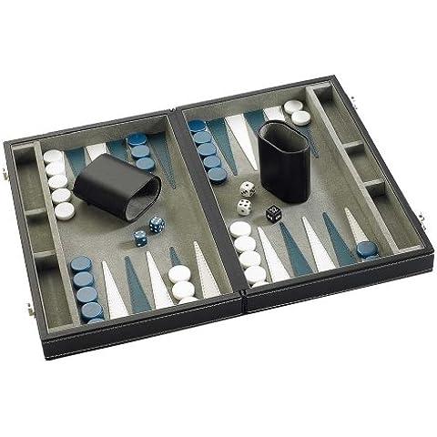 Gibsons G387 - Backgammon en caja de piel sintética (28 cm)