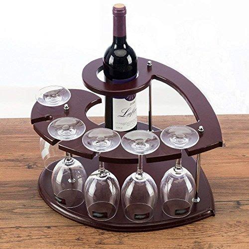 HAIZHEN Modelle Liebe Heart-Shaped Wine Rack europäischen Holz- Flasche Wein Rack Küche Kochen Dining Bar Accessoires invertiert Becherhalter Display Steht