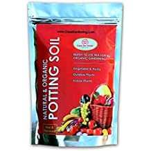 Casa De Amor Organic Potting Soil Mix Ready to Use Fertilizer Nutrients Balanced Water Absorption (Brown, PS-10)
