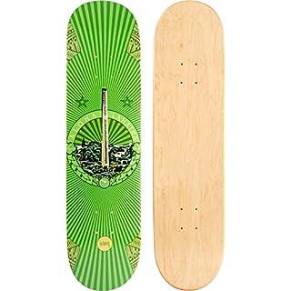 JUCKER HAWAII Skateboard/Cruiser Decks - Nuha, Bamboo, Skowl, B.Inks, Shabby, Malama Kai, Malama Aina, Valley Isle - Diverse Shapes und Designs Skateboard/Cruiser Deck Valley Isle 8.0
