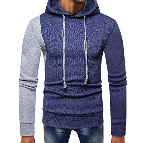 Preisvergleich Produktbild Sannysis Herren Slim Fit Hoodie Patchwork Strickpullover Männer Kapuzenjacke Kapuzenshirt Kapuzen-Sweatshirt mit Kapuze Mantel