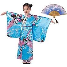 LOLANTA Vestido Kimonos asiáticos para niñas Vestido Superior para niños Vestido japonés Kimono ...