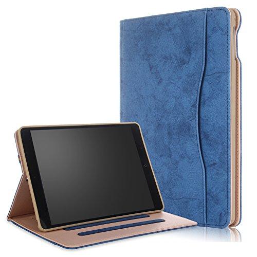 018/2017 iPad Air/Air2 Hülle Multifunktionale TPU Soft Case, Mehrere Sichtwinkel mit Hand-Halter [Auto Schlaf/Wach] Schutzhülle für Apple iPad 9.7 2017/2018/Air/Air2 Dunkelblau ()