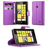 Cadorabo Funda Libro para Nokia Lumia 520 en Violeta DE MANGANESO - Cubierta Proteccíon con Cierre...