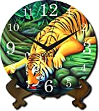 2 O Clock Wooden Printed Table Clock