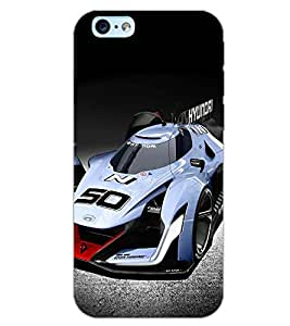 PrintDhaba RACING CAR D-7066 Back Case Cover for APPLE IPHONE 6S PLUS (Multi-Coloured)