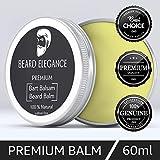 BEARD ELEGANCE Beard Balm - Bartpflege Bartbalsam & Bartwachs - Stoppt den Juckreiz, bändigt den Bart & macht ihn geschmeidig - bekannt als Bart Balsam, Bartwichse, Bartpomade, Bartbalm 100% Natürlich