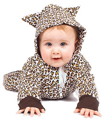 Baby Moo's Baby Mädchen (0-24 Monate) Leggings braun Biege, Brown 6-12 Monate (0 6 Monate Kuh Kostüm)