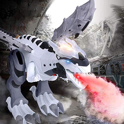 Bestes Geschenk für Kinder !!! Beisoug Walking Dragon Toy Feueratmung Mechanische Wasser Spray Elektrische Licht Simulation Dinosaurier Weihnachtsgeschenk (47 x 27 x 17,5 ()