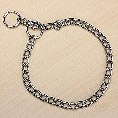 Kungfu Mall Pet Strong Steel Metal Training Pet Choker Chain Collar (L) 1