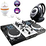 Hercules djcontrol Air S controlador DJ Party Pack Incluye LED de fiesta de Light