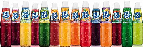 Tri Top Sirup Sortiment - alle 14 fruchtig leckere Sorten - 14 x 600ml - NEU