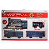 #7: Smiles Creation™ Classic Trains Set with Realistic Sound, Light and Smoke Toy for Kids (14 pcs set)