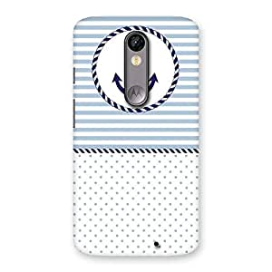 Neo World Anchor Stripe Back Case Cover for Moto X Force