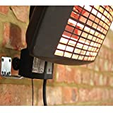 2000W 3 Heat Setting Height Adjustable Garden Patio Heater 156cm-188cm (1.8m)