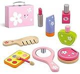 Top Race Set di 9 pezzi per bambini Set di cosmetici, pezzi di legno con custodia, kit di bellezza per bambini Finta giochi di ruolo, Giochi di bellezza. TR-W500