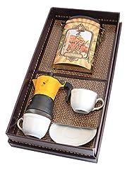 Idea Regalo - Confezione regalo con moka e set tazzine Foschi