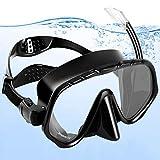 amzdeal Snorkel Gafas con Tubo, Buceo Gafas Hombre Anti-Vaho con Vista Panorámica 180°Snorkel Máscara Mar Set para Adultos y Juventud