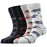 #5: Arrow Men's Formal Short Calf Length Cotton Socks Pack Of 5 Pair