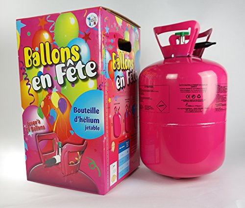 Ballonim Einweg Ballongas Helium Flasche für ca. 45 Ballons Ø 23cm, 0,32m³