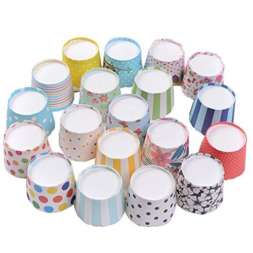 Keysui 100st gemischte bunte Papierkuchen Liner Tasse Cupcake Muffin - Cupcake-liner Blumen