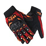 #7: SKY LINE OCEAN Ktm Gloves Red With Black Colour Bike Riders Gloves Motosports Gloves For all Unisex