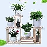 DGFBlumenstand, Massivholz-Blumenständer Multifunktions-Balkon Holz-Wohnzimmer Pflanzen-Blumen-Rack (Energie A +) ( Farbe : B )