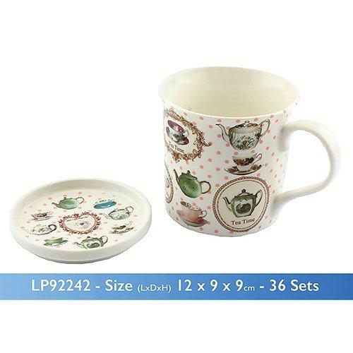 Tea Time Mug et dessous-de-verre