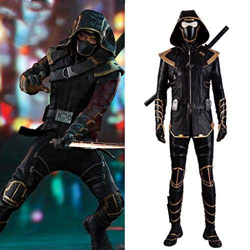 Hawkeye Kostüm Cosplay - Cosplay Marvel Avengers 4 Final Battle Hawkeye Cosplay Kleidung Barton Ronin COS Kleidung Full Set (remarks Shoe Size)-L