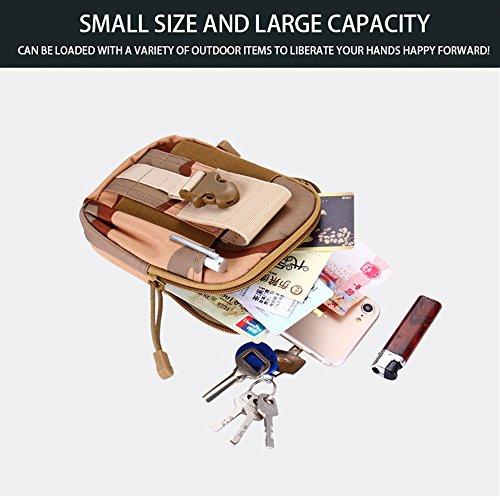 Lixada Camping Taktische Taille Taschen/Männer Wasserdichte Oxford Tuch Tasche, Einzelteilgröße: 17.5 * 12 * 6cm 3