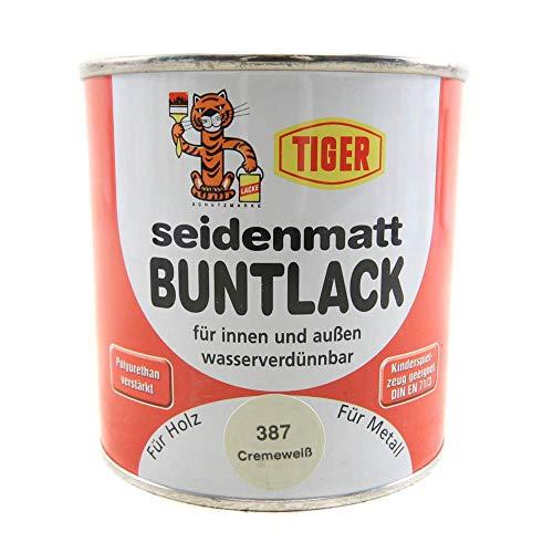 Acryllack Tiger Buntlack cremeweiss 387 seidenmatt 0,375l