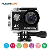 FLOUREON Action Kamera 16MP 4K 1080P/60fps Action Cam Ultra HD Helmkamera mit 2,4G Wifi Sport DV...