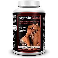 L-ARGININA 1.500 mg + MACA 3.500 mg - 140 Capsule, Pastiglie - Prodotto speciale con (Maca Zinco Vitamine)