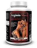 Biomenta L-ARGININ + MACA | mit 1.500 mg L-Arginin + 3.500 mg Maca + OPC + Avena Sativa + Spirulina Algen + Zink | Für aktive Frauen und Männer | 140 Maca-Kapseln