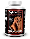 Biomenta L-ARGININ + MACA mit 1.500 mg L-Arginin + 3.500 mg Maca + OPC + Avena Sativa + Spirulina Algen + Zink 140 Kapseln