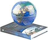 infactory Weltkugel: Freischwebende Deko-Leuchte mit beleuchtetem Globus und Magnet-Basis (Schwebeglobus)