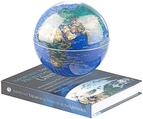 infactory Schwebeglobus: Freischwebende Deko-Leuchte mit beleuchtetem Globus und Magnet-Basis (Globen)