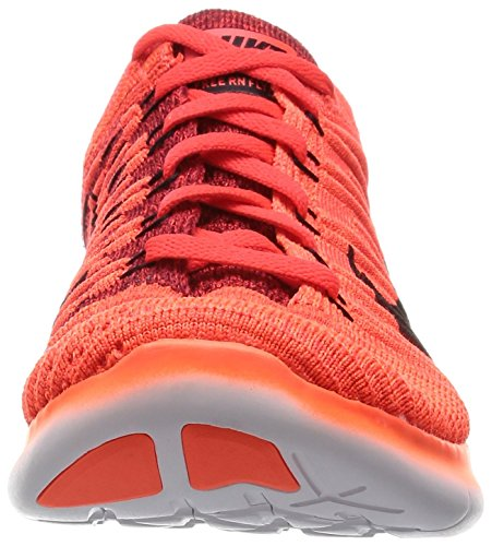 Nike Free RN Flyknit, Chaussures de Running Entrainement Homme, 40 EU Orange (pourpre vif / noir - rouge université)