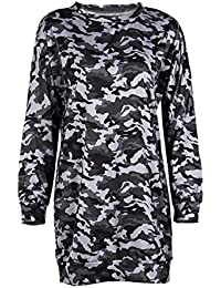 TOOGOO(R) New Women Camouflage Printed Winter Tops Long Sweatshirts Casual Cotton Loose Pullover Dresses woman(Camouflage, L/US~8/UK~12)