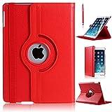 360Grad drehbare, dünne Schutzhülle aus PU-Leder mit Ständerfunktion für iPad Pro, rot, IPAD PRO