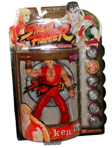 Street Fighter KEN Action Figure by Resaurus (Red) for sale  Delivered anywhere in UK
