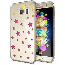Samsung Galaxy S7 Edge Coque Protection de NICA, Housse Motif Silicone Portable Premium Case Cover Transparente, Ultra-Fine Souple Gel Slim Bumper Etui pour S7-Edge, Designs:Stars