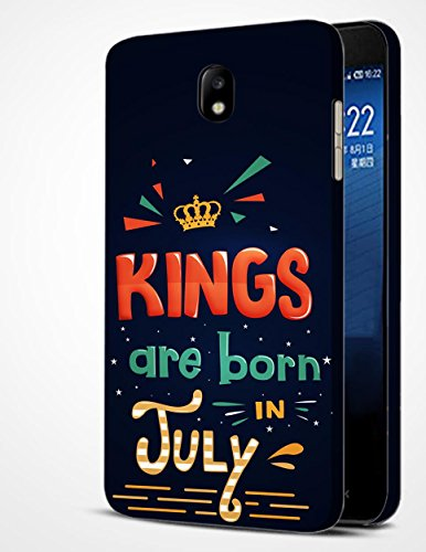 Samsung Galaxy J7 Pro (2017 Ed) Printed Mobile Back Cover / mbamarsal® Kings Are Born In July Printed Cover For Samsung Galaxy J7 Pro (2017 Ed) (W10142)