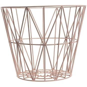 Amazon De Ferm Living Korb Aufbewahrungskorb Wire Basket Rose