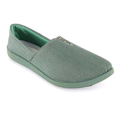 Action Shoes Women's Green Safety Shoes - 7 UK/India (39 EU)(BN-1021-GREEN)  available at amazon for Rs.299