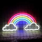 LED-Regenbogen-Leuchtreklamen Wolke Neon-Nachtlichter Neon-Wandschild Art Decor Light für Schlafzimmer, Weihnachten, Geburtstagsfeier, Hochzeit, Bar, Stromversorgung über USB-Kabel (15 '' × 7,5 '')